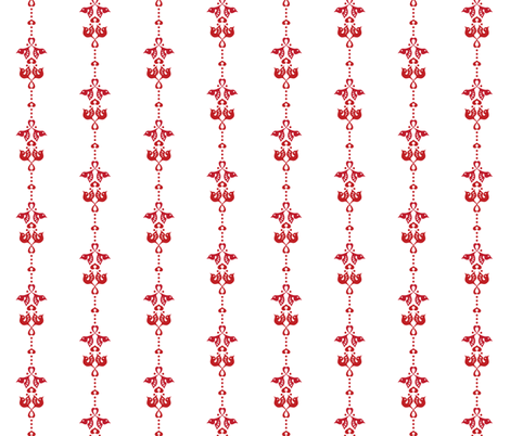 Lovebird red stripe fabric by bjornonsaturday on Spoonflower - custom fabric