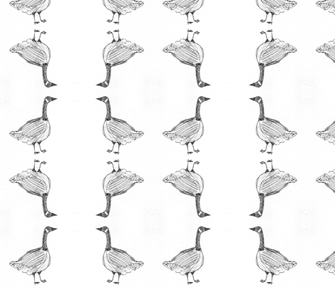 Clarence the Goose fabric by ussrosalind on Spoonflower - custom fabric