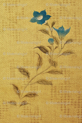 Flowers and Lace - blue flower