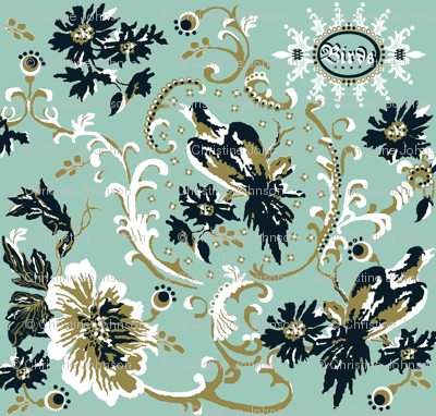 birds of paradise / spoonflower