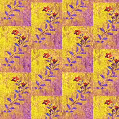 Flowers and Lace - purple, yellow, red, blue fabric by materialsgirl on Spoonflower - custom fabric