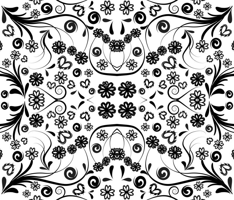 Flower Pattern Png Rrswirl Flowers Pattern Mirror Png