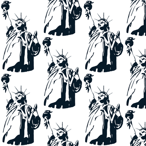 Lady Liberty / navy fabric by paragonstudios on Spoonflower - custom fabric