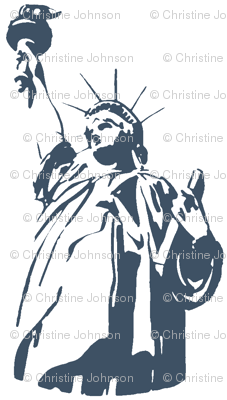 Lady Liberty / indigo