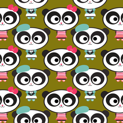 Pandas fabric by natitys on Spoonflower - custom fabric