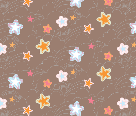 Pop Sky fabric by gracemellow on Spoonflower - custom fabric