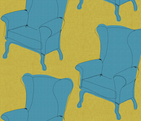 chairs fabric by mummysam on Spoonflower - custom fabric