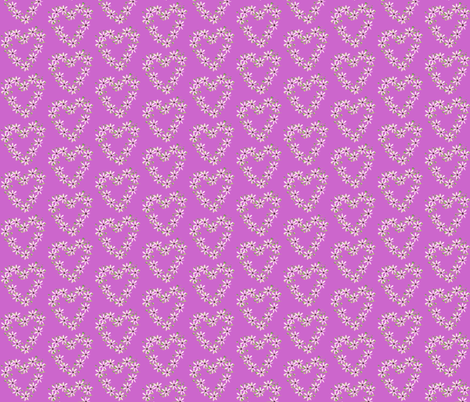 pink flower hearts fabric by krs_expressions on Spoonflower - custom fabric
