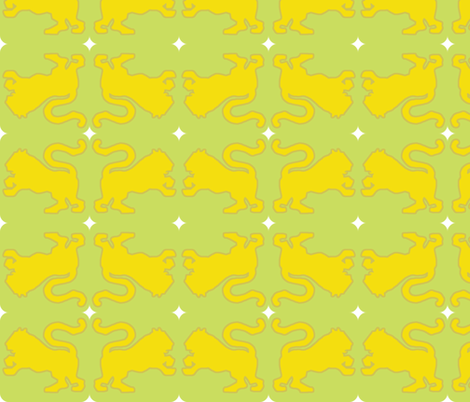 yellow tiger fabric by anieke on Spoonflower - custom fabric