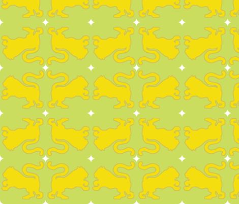 yellow tiger fabric by anieke on Spoonflower - custom fabric