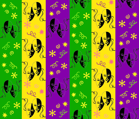 MARDI GRAS MASKS fabric by bluevelvet on Spoonflower - custom fabric