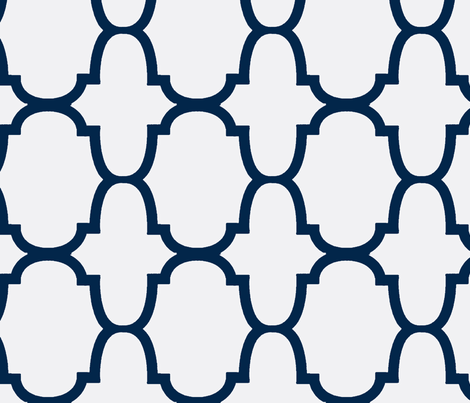 Quatrefoil- Navy/White-Large fabric by melberry on Spoonflower - custom fabric