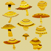 gold mushsrooms