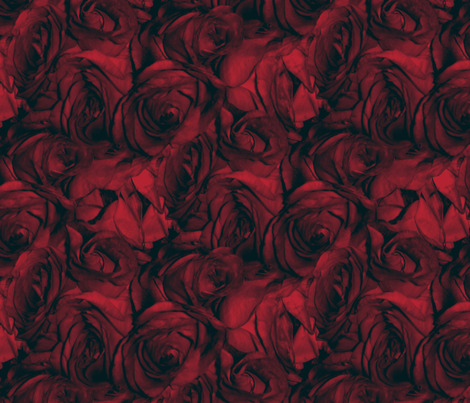Red Roses With the Blues fabric by peacoquettedesigns on Spoonflower - custom fabric
