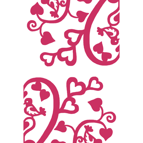 Love birds - 72 inch square, cheater quilt - passionate pink fabric by victorialasher on Spoonflower - custom fabric