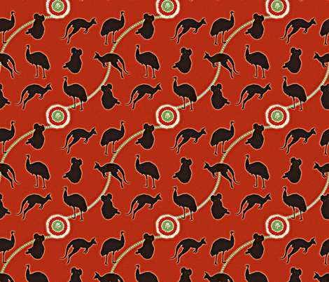 Aboriginal Fauna on Ayres fabric by yomarie on Spoonflower - custom fabric