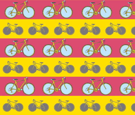 bicycle stripe print fabric by alexborn on Spoonflower - custom fabric
