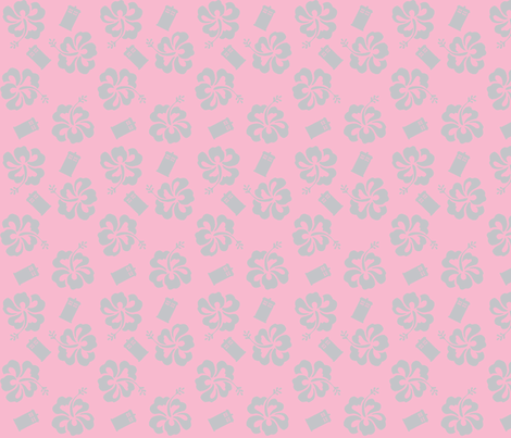 Aloha_Sweetie_1-pink fabric by morrigoon on Spoonflower - custom fabric
