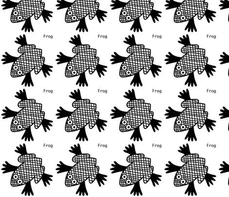 Frog wal decal fabric by yellowstudio on Spoonflower - custom fabric