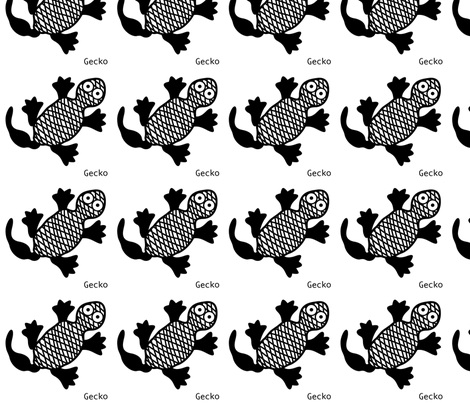 Gecko wall decal fabric by yellowstudio on Spoonflower - custom fabric