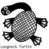 LongNeck Turtle wall decal
