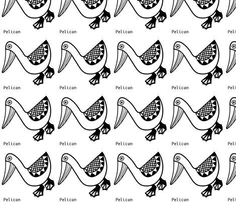 Pelican wall decal fabric by yellowstudio on Spoonflower - custom fabric