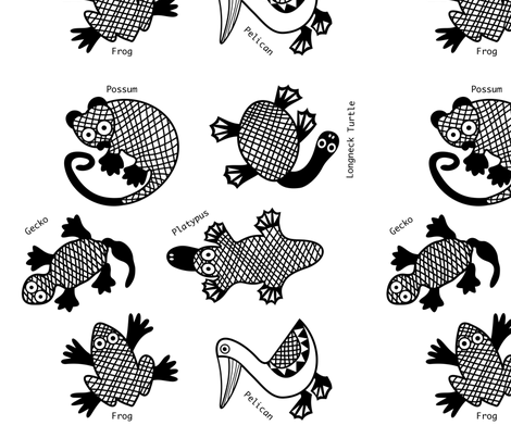 Oz Animals wall decals fabric by yellowstudio on Spoonflower - custom fabric