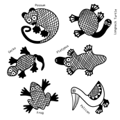Oz Animals wall decals