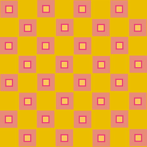 funky checker - pink fabric by anieke on Spoonflower - custom fabric