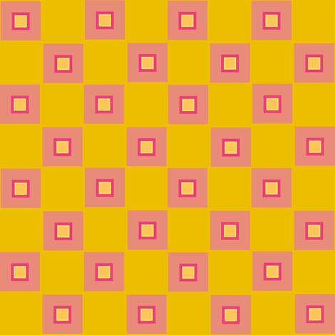 funky checker - pink fabric by anieke on Spoonflower - custom fabric
