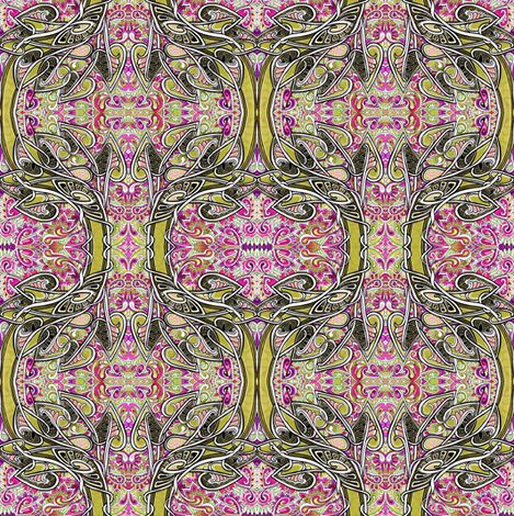 What Houseplants Do When They Party fabric by edsel2084 on Spoonflower - custom fabric