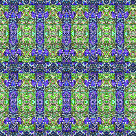 Hearty Egyptian Revival Deco Rectangles  fabric by edsel2084 on Spoonflower - custom fabric