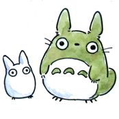 Totoro and a friend