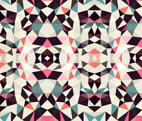 Retro Tris Light fabric by beththompsonart on Spoonflower - custom fabric