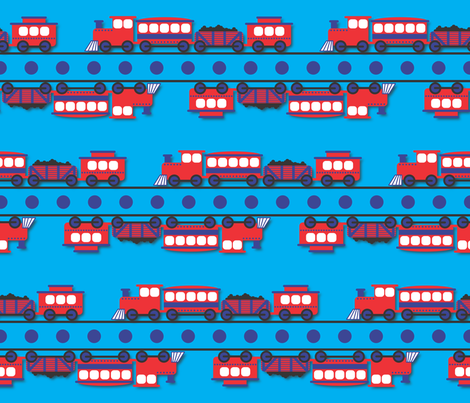 The Birthday Train fabric by illustrative_images on Spoonflower - custom fabric