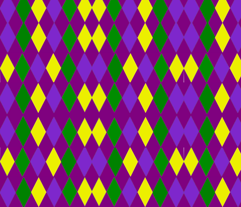 MARDI GRAS JESTER DIAMONDS fabric by bluevelvet on Spoonflower - custom fabric