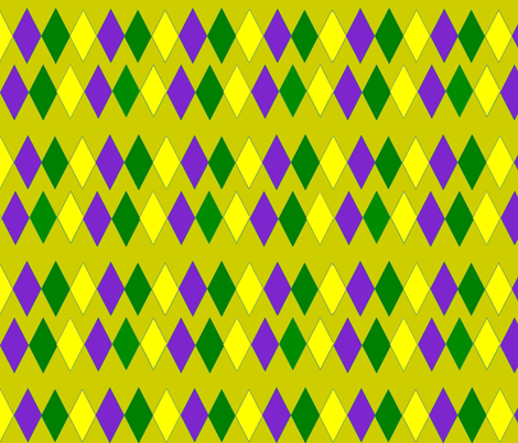 MARDI GRAS LIME DIAMONDS fabric by bluevelvet on Spoonflower - custom fabric