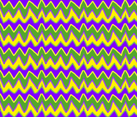 MARDI GRAS JESTER CHEVRON fabric by bluevelvet on Spoonflower - custom fabric