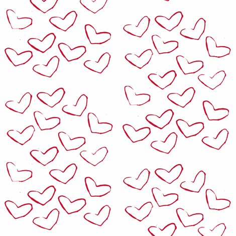 red hearts fabric by ali*b on Spoonflower - custom fabric