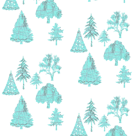 A patterned Forest fabric by karenharveycox on Spoonflower - custom fabric