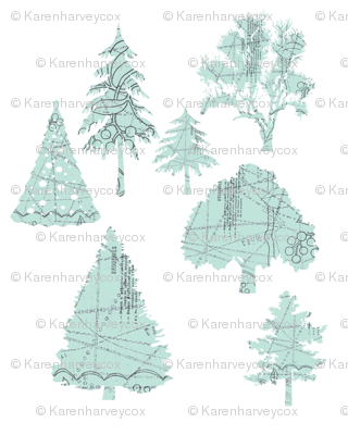 Parisian Patterned Forest on white
