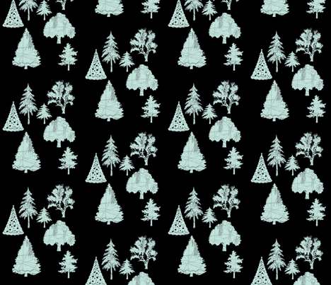 Parisian Patterned Forest fabric by karenharveycox on Spoonflower - custom fabric