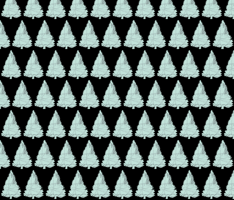 Parisian Evergreens fabric by karenharveycox on Spoonflower - custom fabric