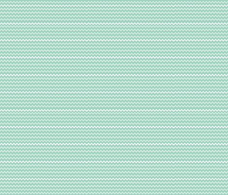 Chevron Stripes On Seafoam