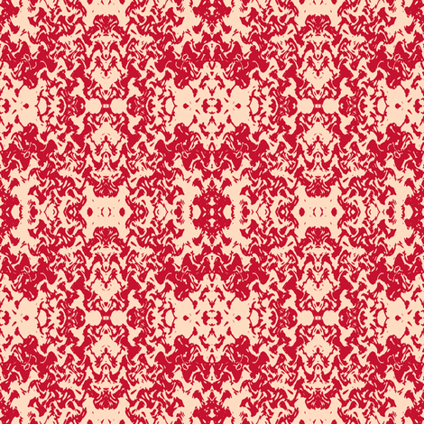 Baroque in Rouge fabric by lesfleursdemimi on Spoonflower - custom fabric