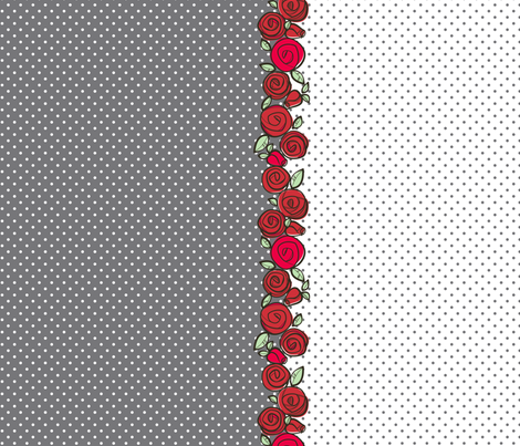 Red Rose Dots fabric by charlotteandstewart on Spoonflower - custom fabric
