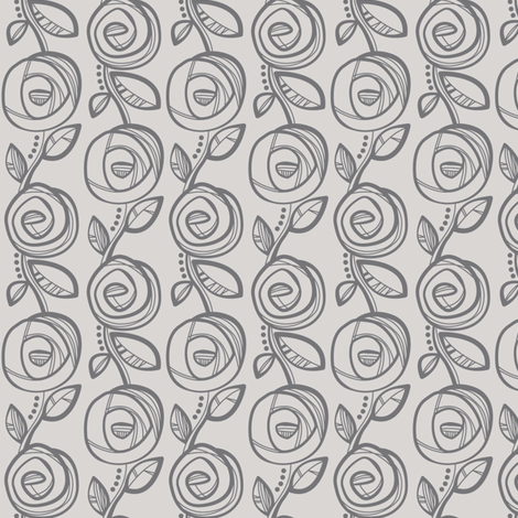 Deco Rose Grey fabric by charlotteandstewart on Spoonflower - custom fabric