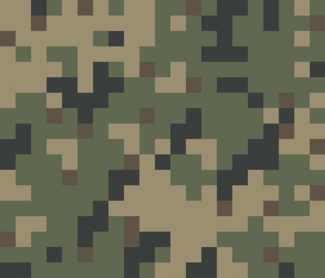 Dual Tex Experimental '70s Digital Camo fabric by ricraynor on Spoonflower - custom fabric