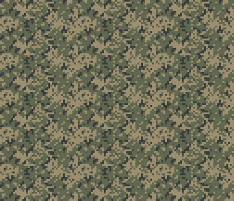 Sixth Scale Dual Tex Experimental '70s Digital Camo fabric by ricraynor on Spoonflower - custom fabric