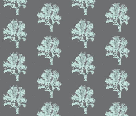 Parisian Patterned Forest on white-ed-ch fabric by karenharveycox on Spoonflower - custom fabric